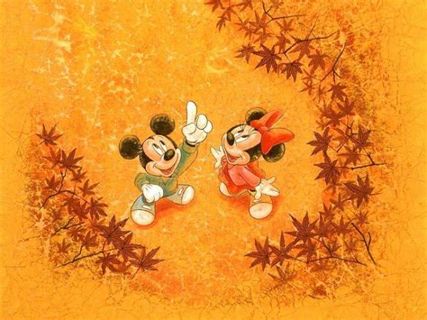 Disney Fall Computer Backgrounds by Mickey Autumn Disney Wallpaper 35977632 Fanpop