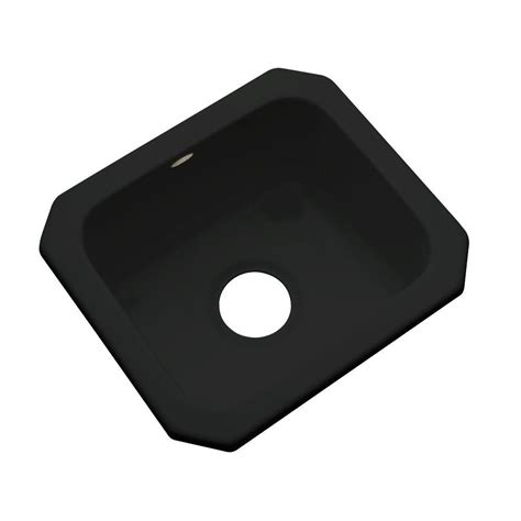 Thermocast Black Kitchen Sinks by Thermocast Manchester Undermount Acrylic 16 In 0