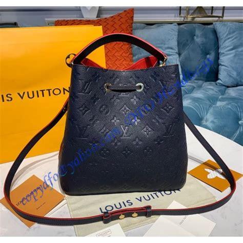 louis vuitton monogram empreinte neonoe mm  navy blue luxtime dfo handbags