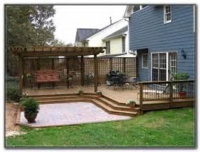12 x 12 ground level deck plans decks home decorating