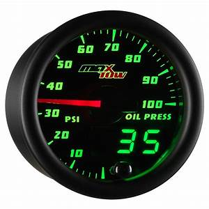 52mm Maxtow Double Vision Oil Pressure Psi Gauge