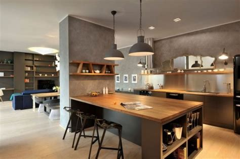 plan bureau d angle cuisine avec îlot central 43 idées inspirations