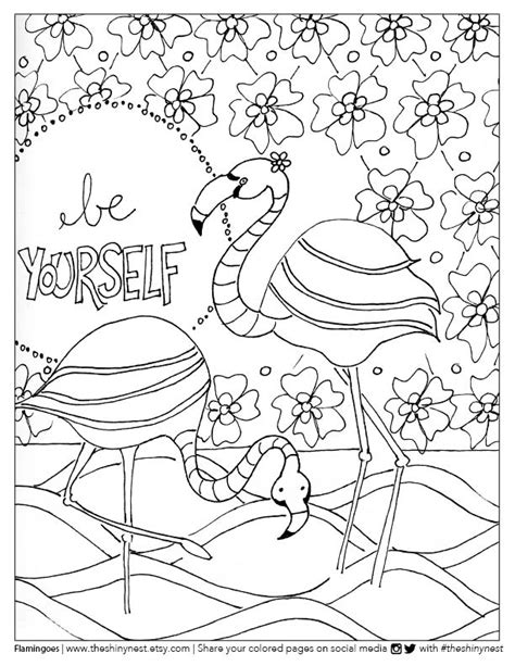 flamingo coloring page free printable coloring