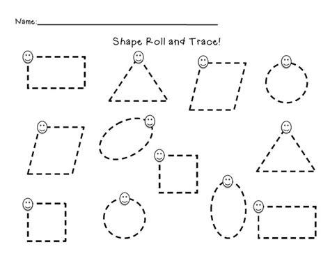 Shape Tracing Worksheet Freebie  Kindergartenklubcom  Pinterest  Shape, Dragon Roll And Basic