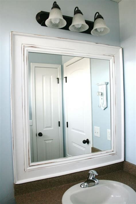 Bathroom Mirror Frames by 1000 Ideas About Painted Mirror Frames On