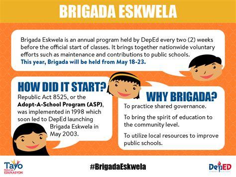 brigada eskwela department education
