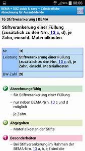 Zahnärztliche Abrechnung Für Anfänger : bema goz f r azubis android apps on google play ~ Themetempest.com Abrechnung