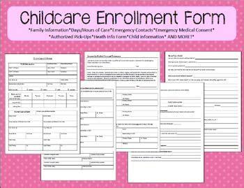 childcare enrollment form washington home and parent 923 | 04385927935c0e4c245e74fc9eefa0f2