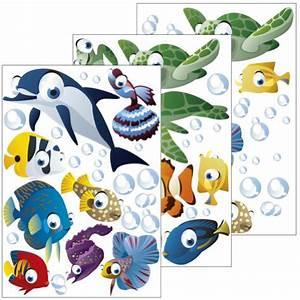 Wandtattoo Unterwasserwelt Kinderzimmer : wandsticker unterwasserwelt fische ozean wandtattoo f r kinderzimmer kinder badezimmer ~ Sanjose-hotels-ca.com Haus und Dekorationen