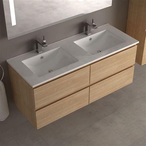 meuble de salle de bain cardo en ch 234 ne clair de 120 cm