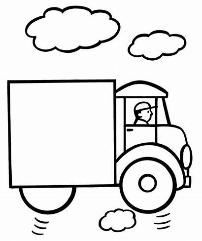 Coloring Pages Easy Truck