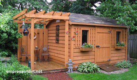 Garden Shed with Porch Swing