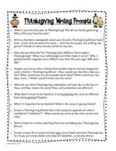 homeschool writing prompts free on thanksgiving writing writing and