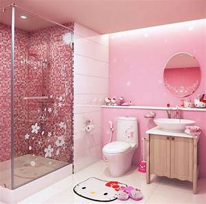 Hello kitty bathroom set everything kitty for Bathroom pic of girl