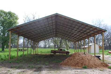 how to build a pole barn open shelter and fully enclosed metal pole barns smith built