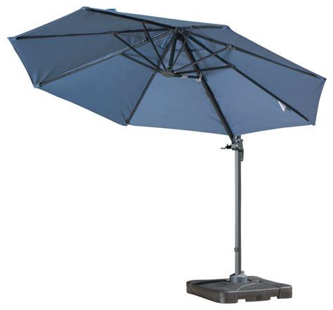 Hton Bay Patio Umbrella Cover by Bay Outdoor Umbrella With Base Blue Contemporary