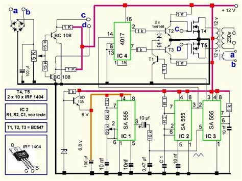 300 watts pwm controlled sine wave inverter circuit circuit projects