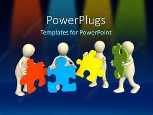 team building powerpoint presentation templates - powerpoint template a team of people putting together