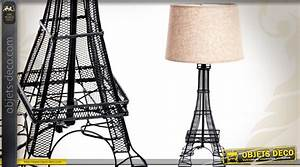 Tour Eiffel Deco : lampe de table tour eiffel en m tal 60 cm ~ Teatrodelosmanantiales.com Idées de Décoration