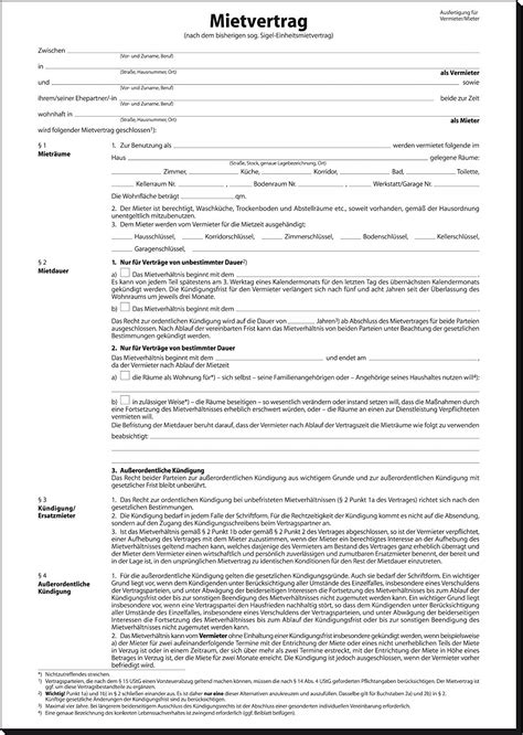 Garagenmietvertrag Garage Mietvertrag Muster Formular