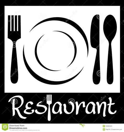 fourchette cuisine restaurant logo stock illustration illustration of card