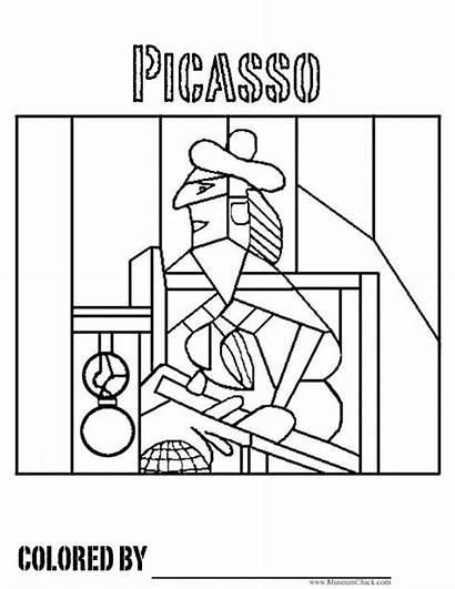 Coloring Picasso Pages Famous Pablo Sheets Cubism