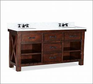 Benchwright double sink console contemporary bathroom for Benchwright bathroom vanity