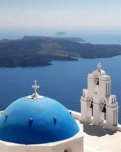 Blue-domed Church, Santorini | wordlessTech
