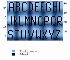 Knitting Charts Alphabet And Knitting On Pinterest