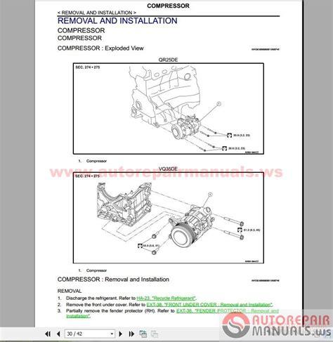 free online car repair manuals download 2007 nissan altima instrument cluster nissan altima 2016 factory service manual auto repair manual forum heavy equipment forums