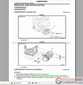 Nissan Altima 2016 Factory Service Manual