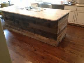 reclaimed wood kitchen island pin by reclaimed lumber and beams on our portfolio