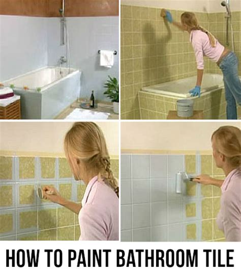 How To Paint Bathroom Tiles  The Crafty Frugalista