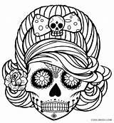 Coloring Skull Sugar Printable Adults Popular sketch template