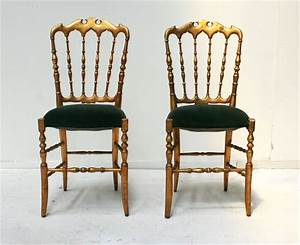 Pair of Napoleon III Gilt Side chairs Haunt - Antiques