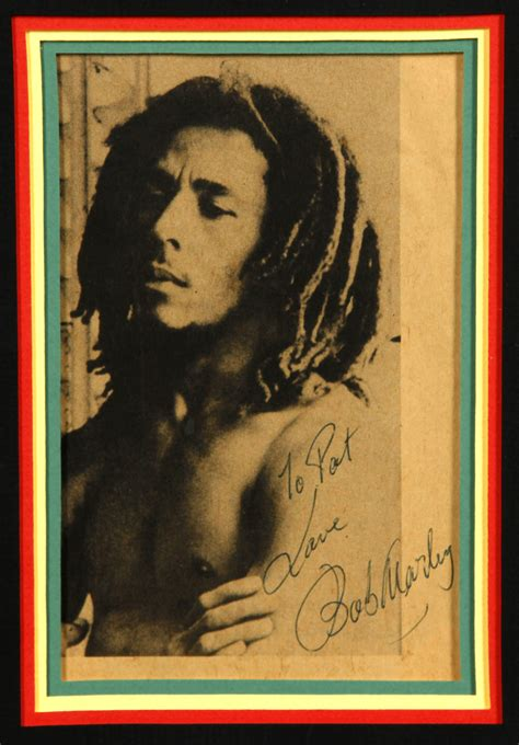 lot detail bob marley signed photograph