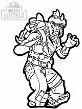Fortnite Coloring Pages Royale Battle Season sketch template