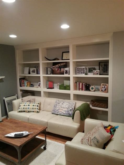 Built In Bookshelves by Crafted Built In Bookshelves With Adjustable Shelves