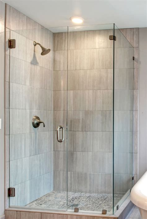 frameless shower glass door enclosure