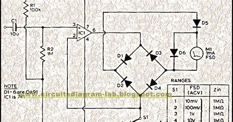 Simple Audio Milli Volt Meter Circuit Diagram Circuits