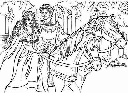 Horse Upon Riding Once Queen Princess King