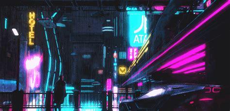 cyberpunk night city shape  computer beautifully