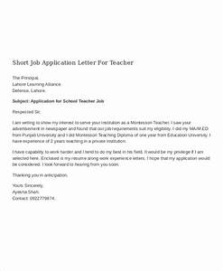 12 job application letter for teacher templates pdf With covering letters for teaching jobs