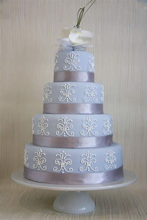 tiffany blue  silver wedding cake bing images