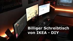 Gamer Pc Auf Rechnung Kaufen : billiger schreibtisch f r 150 diy von ikea hd youtube ~ Themetempest.com Abrechnung
