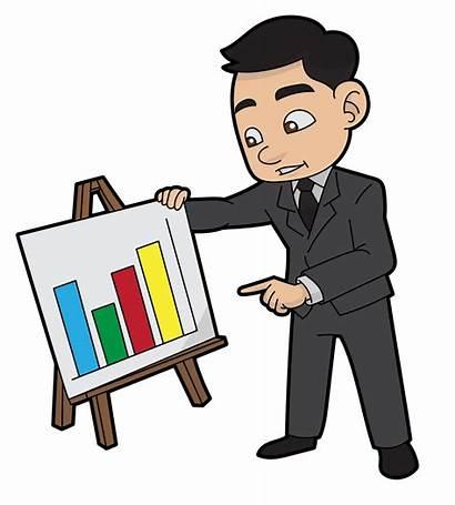 Cartoon Presenting Business Report Director Svg Sales