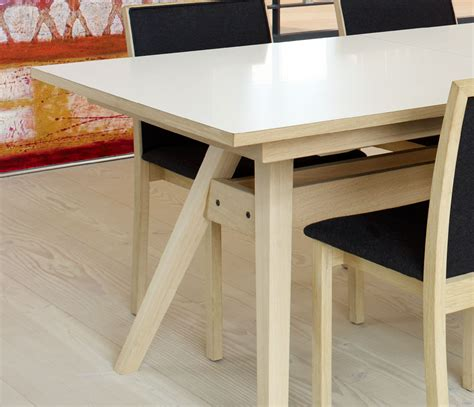 modern trestle shaped dining table  skovby wharfside
