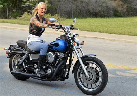 Mandy White And Her 1996 Harley-davidson Low Rider