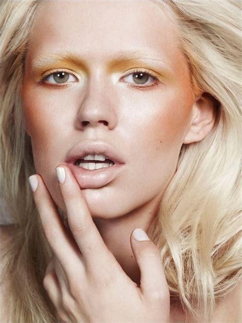 yellow eyeshadow nude lips   pinterest