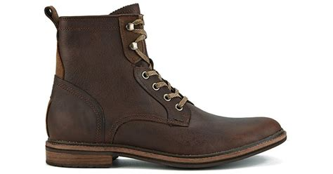 ugg s selwood lace up leather boots in brown for